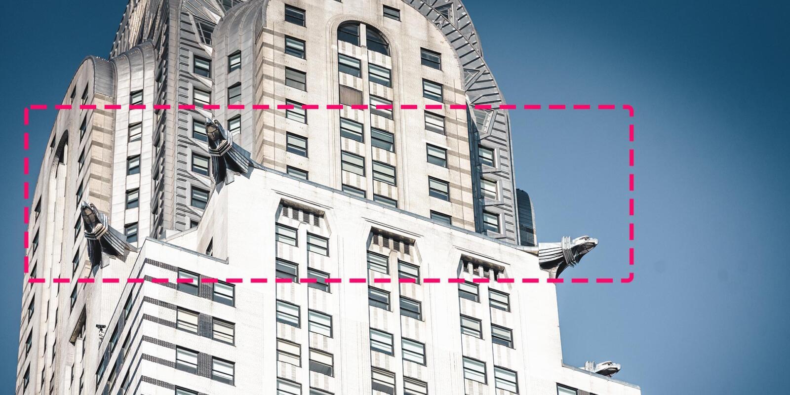 Altura de la plataforma de observación del edificio Chrysler