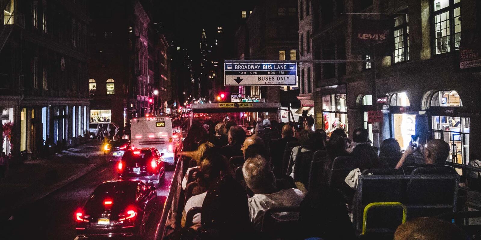 El mejor recorrido en autobús nocturno por Nueva York Loving New York Broadway
